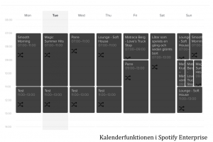 Kalender i Spotify Enterprise