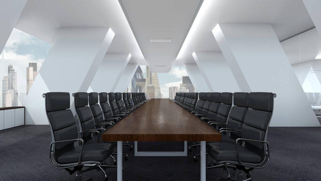 Konferensrum med takmikrofon för bra konferensljud